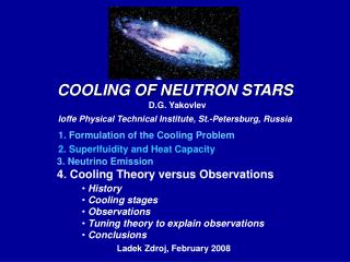 COOLING OF N EUTRON ST A R S