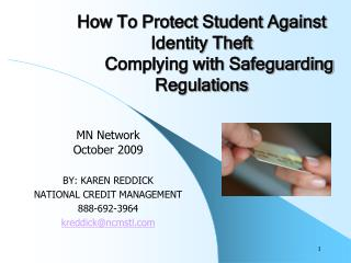 How To Protect Student Against Identity Theft  Complying with Safeguarding Regulations