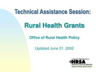 Technical Assistance Session:
