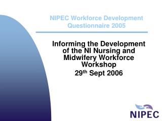 NIPEC Workforce Development Questionnaire 2005