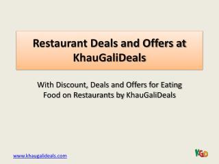 Best Restaurant Deals in Delhi
