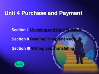 Section I   Listening and Conversation  Section II  Reading Comprehension