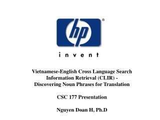 Vietnamese-English Cross Language Search  Information Retrieval (CLIR) -
