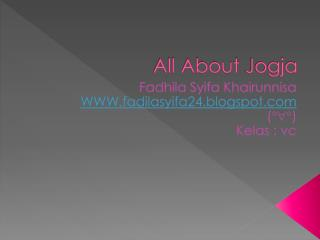 All About  Jogja