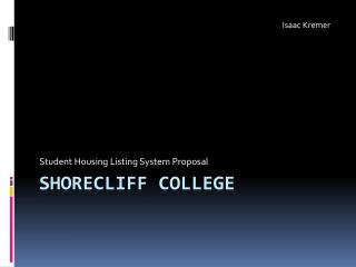 Shorecliff  College