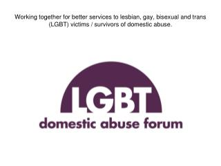 Queer survivors. Young lesbian, gay, bisexual and trans (LGBT) people and domestic abuse
