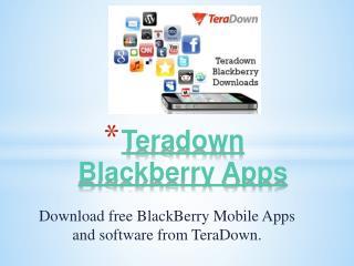 Blackberry Apps In TeraDown