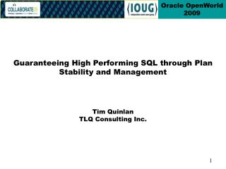 Tim Quinlan TLQ Consulting Inc.