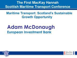 Adam McDonaugh European Investment Bank
