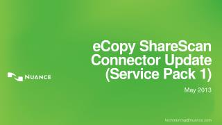 eCopy ShareScan Connector  Update (Service Pack 1)