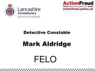 Detective Constable  Mark Aldridge