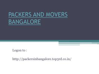 Top 3rd expert Packers and Movers Bangalore