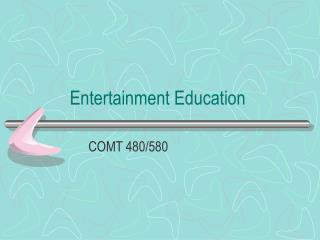 Entertainment Education