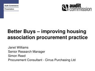 Better Buys – improving housing association procurement practice