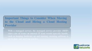 Important Things to Consider When Moving to the Cloud
