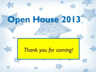 Open House 2013