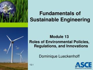 Fundamentals of Sustainable Engineering