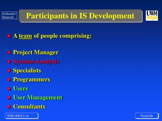 Participants in IS Development