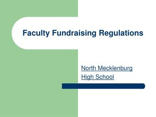 Faculty Fundraising Regulations