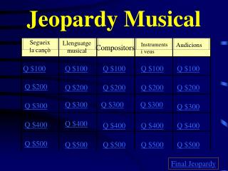 Jeopardy Musical