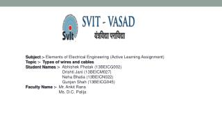 Subject :-  Elements of Electrical Engineering (Active Learning Assignment)