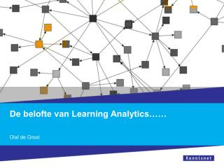 De belofte van Learning Analytics……