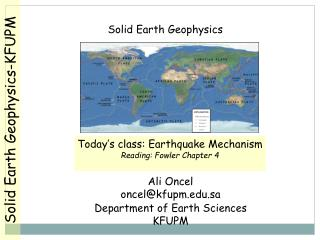 Solid Earth Geophysics