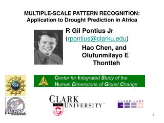 MULTIPLE-SCALE PATTERN RECOGNITION: Application to Drought Prediction in Africa