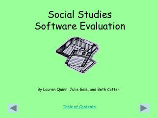 Social Studies Software Evaluation