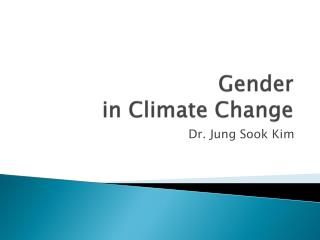 Gender in Climate Change