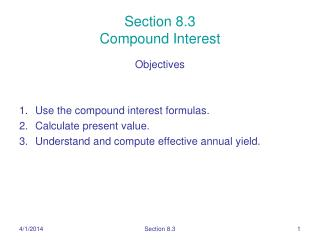 Section 8.3 Compound Interest