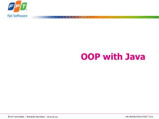 OOP with Java