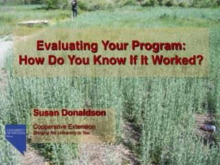 Evaluating Your Program: How Do You Know If It Worked?
