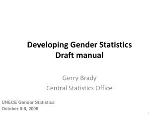 Developing Gender Statistics Draft manual