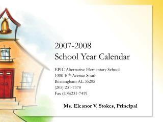 2007-2008 School Year Calendar