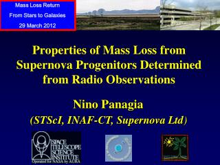 Properties of Mass Loss  f rom Supernova Progenitors Determined  from Radio Observations