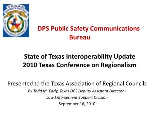 Presented to the Texas Association of Regional Councils