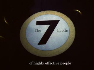 The    habits of highly effective people