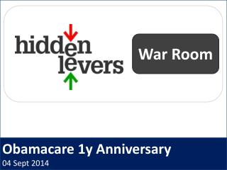 Obamacare 1y Anniversary 04 Sept 2014