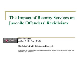 The Impact of Reentry Services on Juvenile Offenders' Recidivism