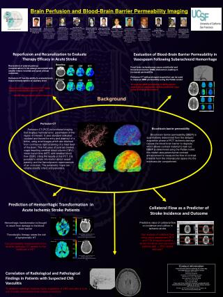 Brain Perfusion and Blood-Brain Barrier Permeability Imaging