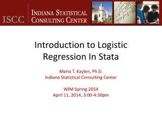 Introduction to Logistic Regression In Stata