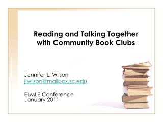 Reading and Talking Together  with Community Book Clubs