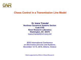 Chaos Control in a Transmission Line Model