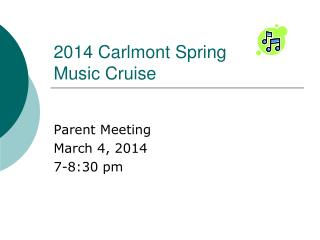 2014 Carlmont Spring Music Cruise