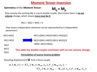 Symmetry  of the  Moment Tensor :