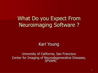 What Do you Expect From Neuroimaging Software ?