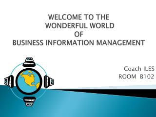 WELCOME TO THE  WONDERFUL WORLD  OF  BUSINESS INFORMATION MANAGEMENT