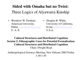 Sided with Omaha but no Twist: Three Logics of Alyawarra Kinship