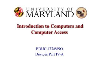 Introduction to Computers and Computer Access